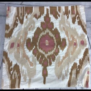 Williams Sonoma Pillow Sham Cover Linen Ikat Case
